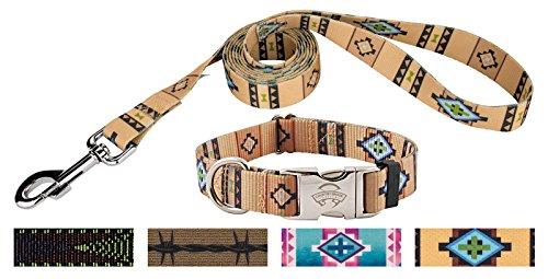 Premium Patterned Dog Collars - Country Brook Design | Native Southwestern Premium Dog Collar & Matching Leash Set Limited Edition -Large