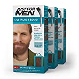 Just for Men Just for Men Mustache and Beard, Beard Coloring for Gray Hair With Brush Included - Color: Light Red Brown, M-27, Pack of 3 (Color: Light Red Brown, Tamaño: Pack of 3)