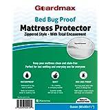 "Guardmax - Bedbug Proof/Waterproof Mattress Protector Cover - Zippered Style - Quiet! - Queen Size (60""x80""x11"")"