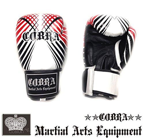 ボクシング グローブ ボクシンググローブ 本革 COBRA BOXING GLOVE GEOMETRIC PATTERN (Hard Cushion Type) B01EO5TQBU  12oz