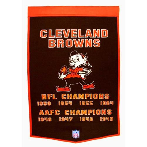 - Cleveland Browns Super Bowl Championship Dynasty Banner - with hanging rod