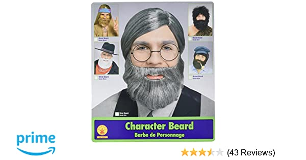 Amazon.com: Character Beard, Conservative Straight Gray Beard: Clothing