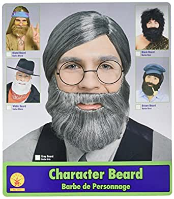 Character Beard, Conservative Straight Gray Beard(Wig is not included)