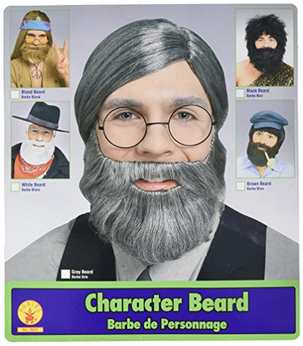 Character Beard, Conservative Straight Gray Beard
