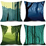 Usstore 4PC Festival Pillowcases Cover Home Decoration for Cafe Living Sofas Beds Room (H)