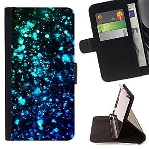 Momo Phone Case / Flip Funda de Cuero Case Cover - Luces Azul Negro oscuro brillante del trullo - Sony Xperia M2