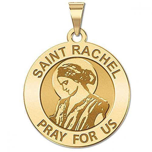 Saint Rachel Religious Medal Available in Solid 14K Yellow or White Gold, or Sterling Silver