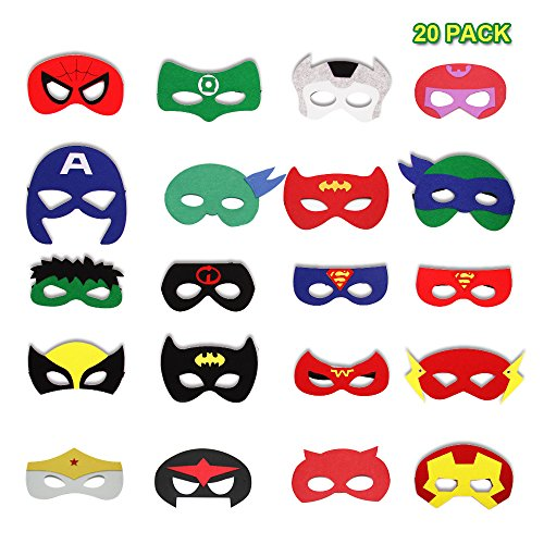 Pieces Felt Superhero Party Favors for Kids Children (Spider Man Prop)