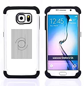 """Pulsar ( Patrón Vikingo nórdico Negro Blanco"""" ) Samsung Galaxy S6 / SM-G920 SM-G920 híbrida Heavy Duty Impact pesado deber de protección a los choques caso Carcasa de parachoques"""