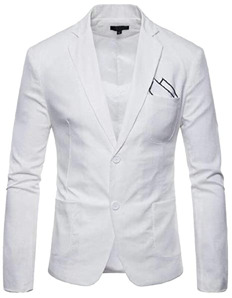 b85db517e8c01 Blazer Slim Fit Blazer De Manga Larga para Hombre con Solapa Ropa De Ocio  Chaqueta para Hombre 2 Botones Fashion Casual Blazer para Hombre De  Negocios  ...