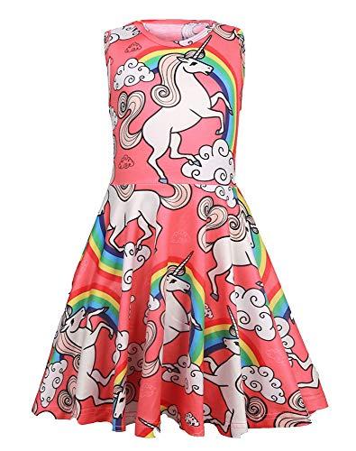 Summer Dresses for Girls Unicorn Casual Dress ()