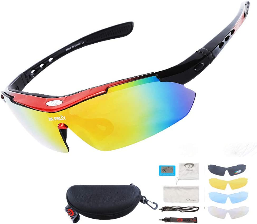 Unisex Cycling Sunglasses Polarized TR90 Frame Outdoor Sport Bicycle Goggles