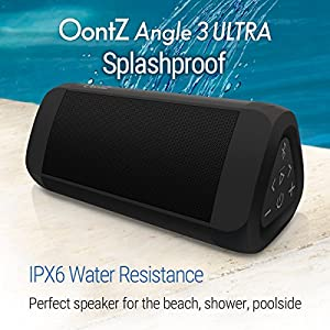 OontZ Angle 3 ULTRA Portable Bluetooth 4.2 Speaker: Excellent Stereo Sound Rich Bass 14Watt Loud Volume 100' Bluetooth Range, Play to two together, Splashproof, by Cambridge SoundWorks