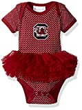 Two Feet Ahead NCAA South Carolina Fighting Gamecocks Children Girls Pin Dot Tutu Creeper,Nb,Crimson