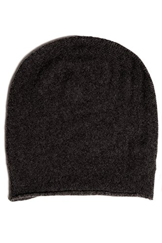 Fishers Finery Men's 100% Pure Cashmere Beanie - Charcoal