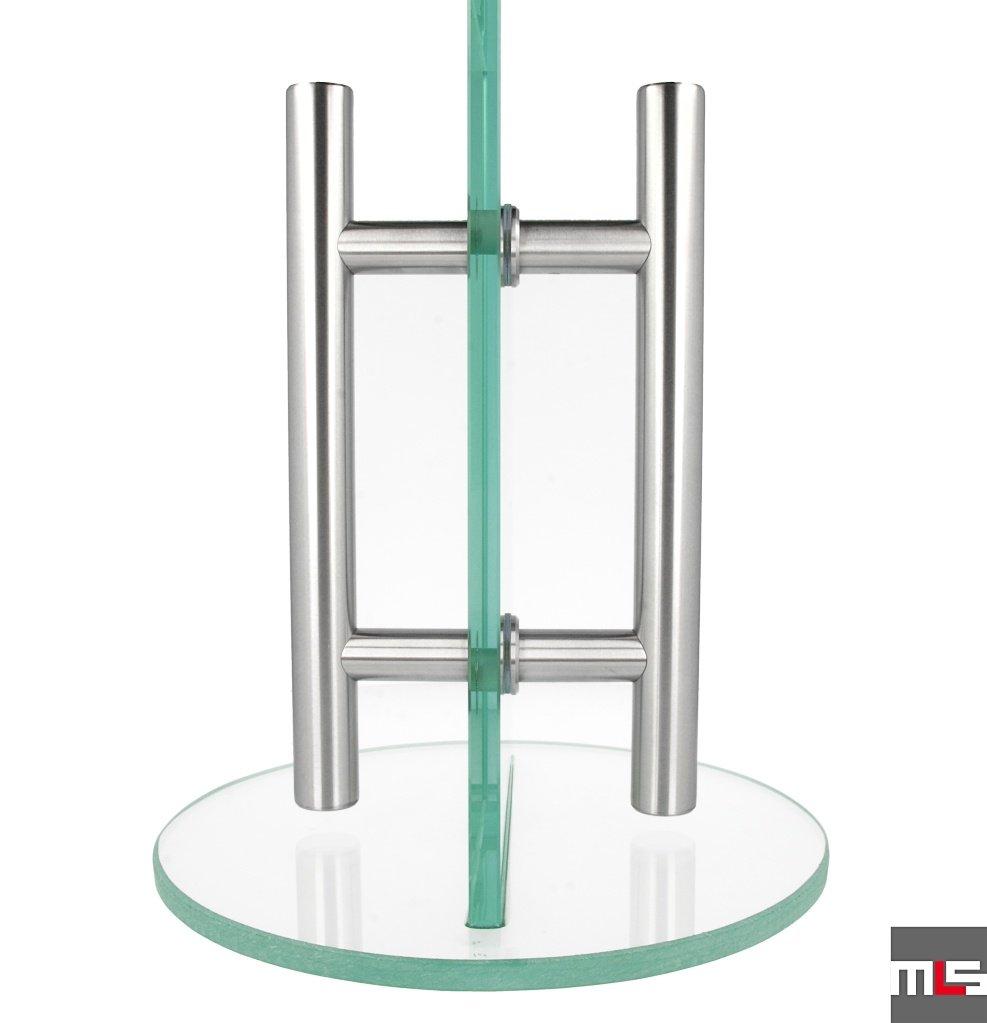 MLS Edelstahl T/ürgriff SerieMilano.03 30-150cm Sto/ßgriff Stangengriff verschiedene Anbindungen Typ 1 - Griffpaar f/ür Glast/üren, L/änge: 90 cm