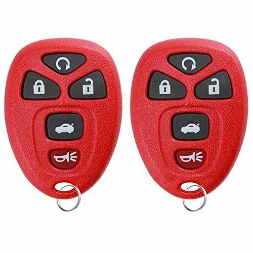 キーレスオプション 交換用 5ボタン キーレスエントリー リモートコントロール キーフォブ 2個 レッド KPT2772  レッド B00KTIVMYQ