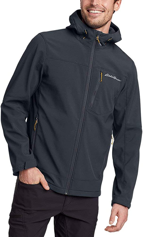 Eddie Bauer Men's Stratify Thermal Hooded Jacket, Storm Tall XL