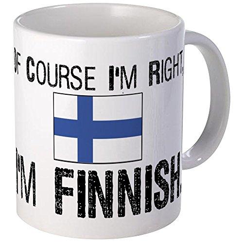 (CafePress Of Course I'm Right Finnish Mug Unique Coffee Mug, Coffee Cup)