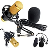 Live streaming Microphone Sound Studio Dynamic Mic +Stand Pro Audio BM800 For Chatting/Skype/Youtube/Recording/Gaming/ Windows Mac (Black)