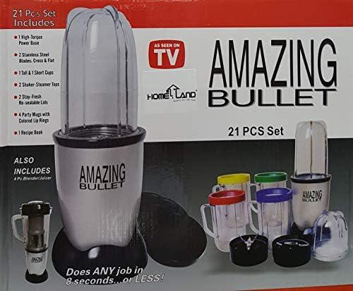 Magic Bullet Deluxe 25 pc Set batidora mezclador [21 pc Set con un ...