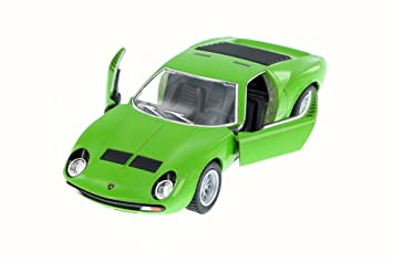 Buy 1971 Lamborghini Miura P400 Sv Green Kinsmart 5390w 1 34