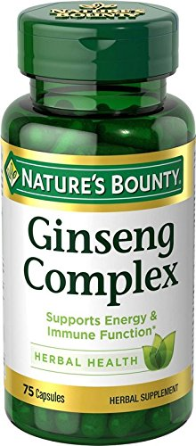 - Nature's Bounty Ginseng Complex Pills and Herbal Health Supplement, Supports Energy and Immune Function, 75 Capsules