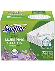 Swiffer Sweeper Dry Sweeping Pad, Multi Surface Refills For Dusters Floor Mop, Lavender Vanilla Comfort, 32 Count