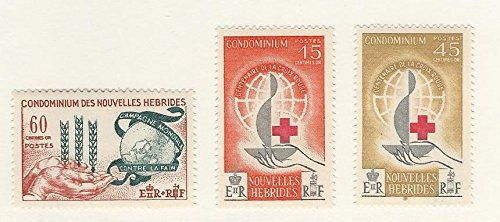 New Hebrides - French, Postage Stamp, 109-111 Mint LH, 1963 Red Cross