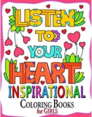 Inspirational Coloring Book for Girls: Motivation Quotes Design Cute, Relaxing, Inspiring, Coloring Books for Ages 2-4, 4-8, 9-12, Teen & Adults