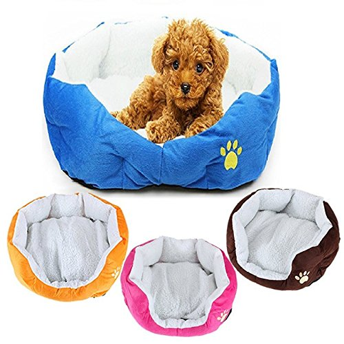 Small Size Fleece Soft Warm Dog Cat Mats Bed Pad ( Blue - Planet Hollywood Shopping Mall
