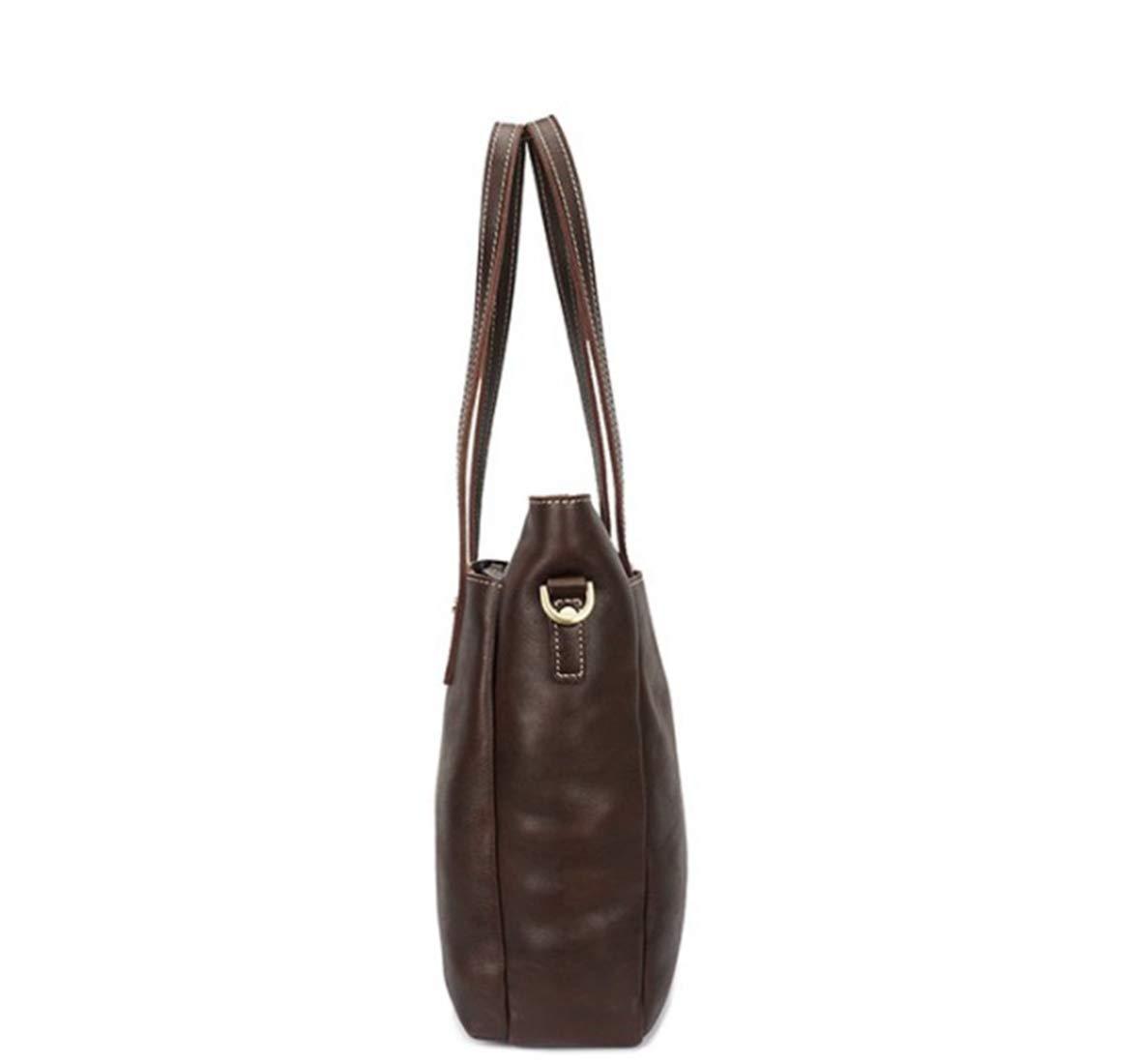 KRPENRIO Mens Messenger Shoulder Bag Vintage Leather Briefcase Crossbody Day Bag for School and Work Color : Coffee Color
