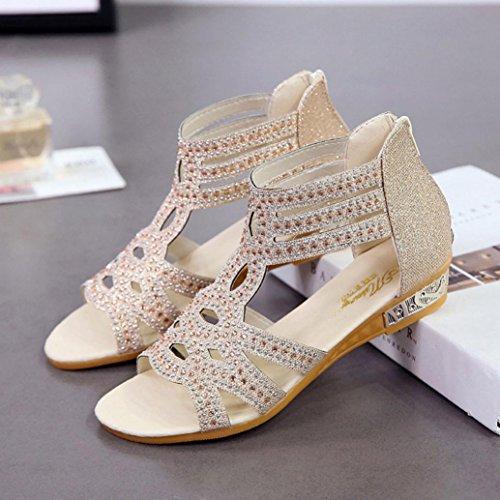 Femmes Sandales ❤️ Toe Chaussures Xinxinyu Femme Sandales Plateforme Tongs Peep Chaussures Mode Beige Ete zdpx6qw6