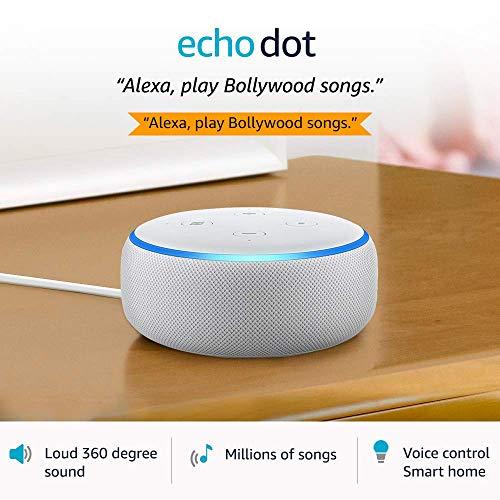 Echo Dot (3rd Gen) – #1 smart speaker brand in India with Alexa (White)