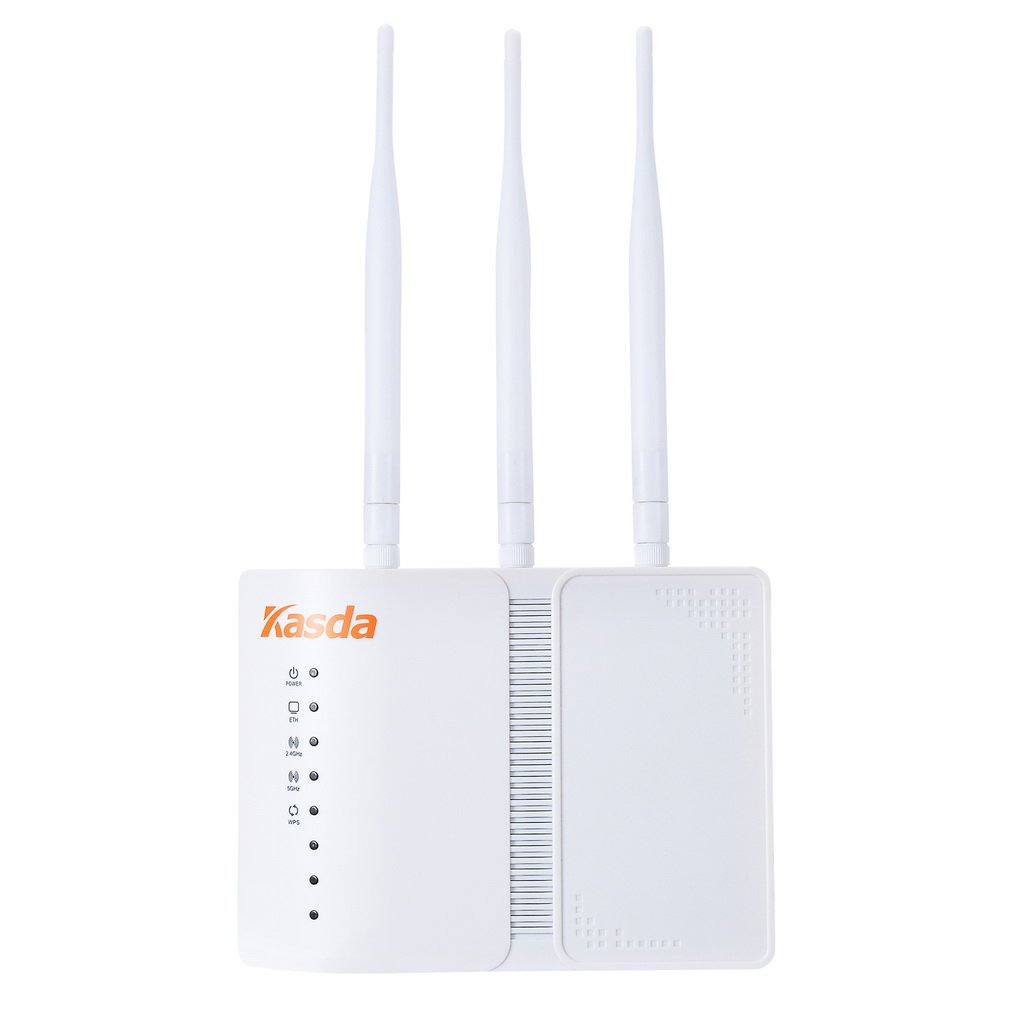 Kasda AC750 Dual Band Wireless Access Point, Passive PoE, 802.11AC WiFi AP with 5dBi High Gain Antenna, Easy Setup Via Cellphone, Wall Mount, High Speed Wi-Fi for Home/Office (KP322)
