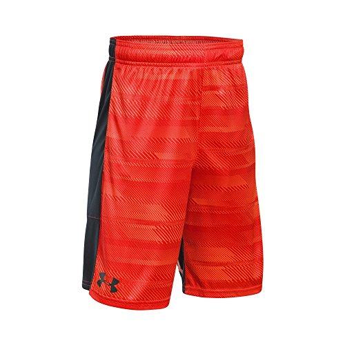 Under Armour Boys Instinct Printed Shorts Magma Orange /Anthracite Youth Large (Boys Shorts Athletic Youth)