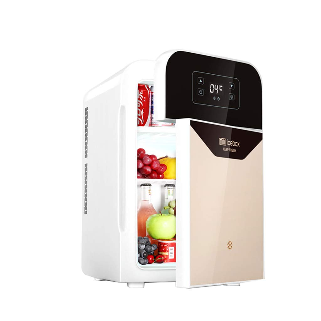 Lxn 22L CNC Version Electric Mini Fridge Cooler and Warmer - Double Door/Dual-core - for Home,Office, Car, Dorm or Boat - Compact & Portable - AC & DC Power Cords