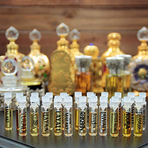 22 Concentrated Perfume Oil Samples Kit | Fragrances for Women, Cologne for Men and Unisex | 0.5mL x 22 Parfum Mini Vials | All The Best Sellers from Designer Fragrances from Perfumer Swiss Arabian