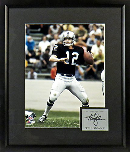 "Stabler ""The Snake"" 11x14 Photograph (SGA Signature Engraved Plate Series) Framed (Photograph Ken)"