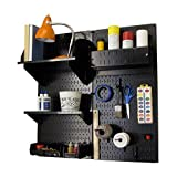 Wall Control Hobby Craft Pegboard Organizer Storage Kit, Black
