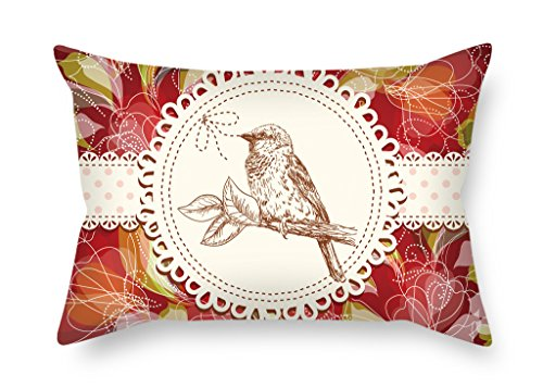 - Artistdecor 20 X 30 Inches / 50 By 75 Cm Bird Throw Christmas Pillow Case 2 Sides Ornament And Gift To Office Adults Bedroom Bar Seat Couples Lounge
