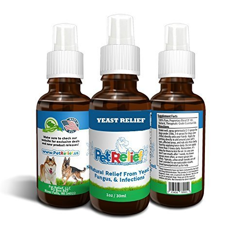 Relief Infection - Natural Dog Relief from Yeast, Fungus and Infections 100% Natural, 30 ml Best Value, No Side Effects! Made in USA