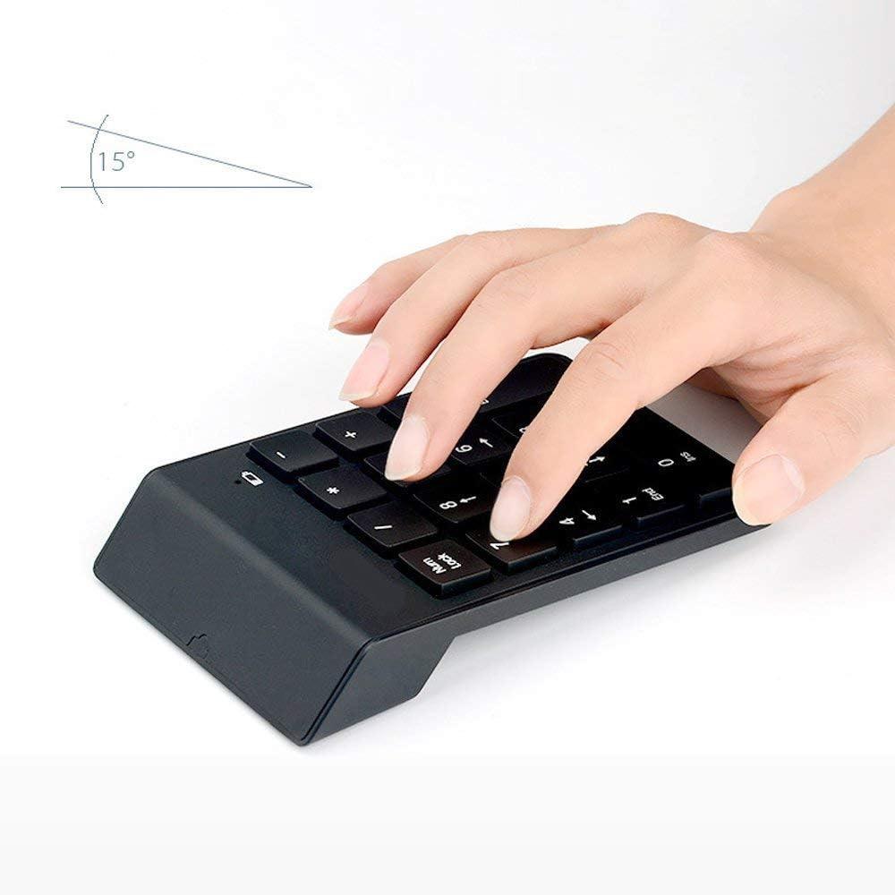 runya Teclado Numérico Inalámbrico 2.4G Mini 18 Teclas Numérico Inalámbrico Keypad con Receptor USB para PC Ordenador portátil o de Escritorio ...