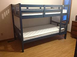 Amazon.com: Storkcraft Caribou Solid Hardwood Twin Bunk ...