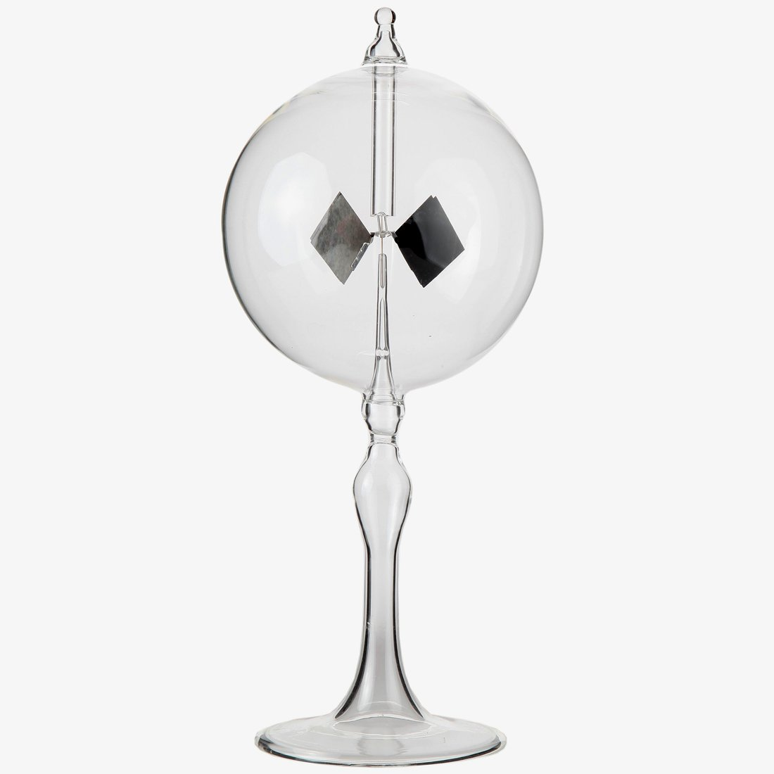 Lily's Home Solar Radiometer Crookes Light Mill for Detecting Sunlight and Electromagnetic Radiation, Fascinating and Functional Gift Ideal for Student or Science Guru, Clear Sphere, 4
