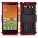 Galaxy A5 Case - ALLIGATOR Heavy Duty Rugged Double Protection Back Cover for Samsung Galaxy A5, Red