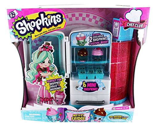 Shopkins NICE N ICY FRIDGE includes 2 Shopkins and 6 mini Sh