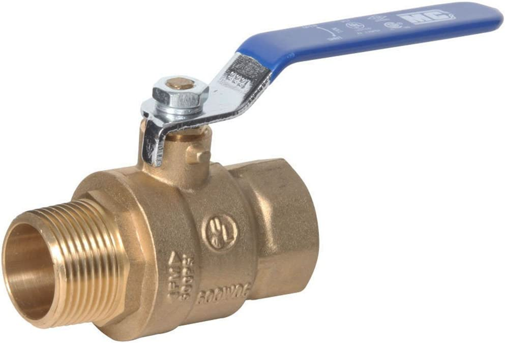Midwest Control MBB-100 600 Psi CWP 1 Mpt x Fpt Brass Ball Valve