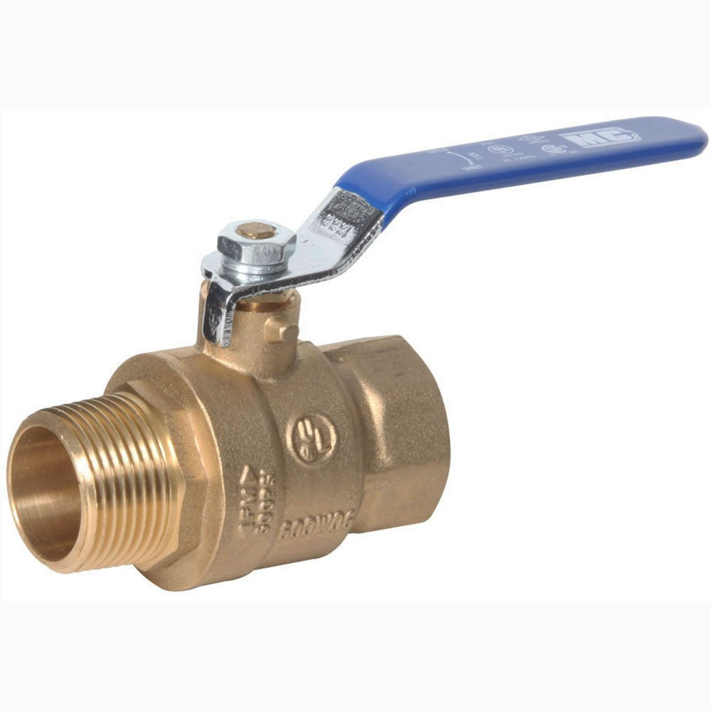 """Midwest Control MBB-75 600 PSI CWP 3/4"""" MPT x FPT Brass Ball Valve"""
