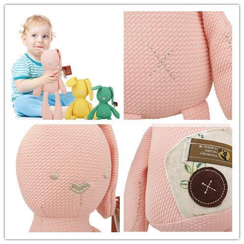 Queta 50cm Peluche Doudou de Petit Lapin en Tissu de Coton pour B/éb/é et Les Petits Enfants
